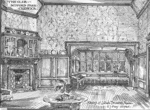 Sketch of Ladies Drawing Room in The Club