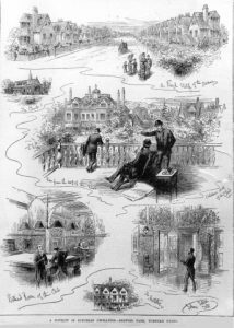 Sketches of The Club circa 1880